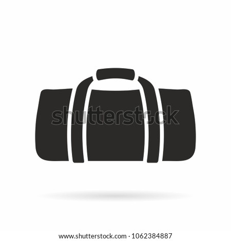 d6d6a2e460 Gym Bag Icon Stock Vector (Royalty Free) 1062384887 - Shutterstock