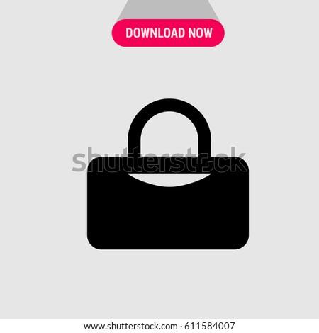 f43ee91954 Gym Bag Vector Icon Symbol Sport Stock Vector (Royalty Free ...