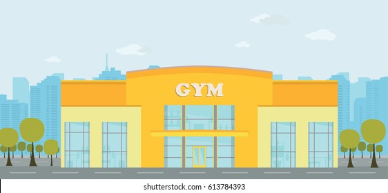gym building images stock photos vectors shutterstock rh shutterstock com  fitness gym building design