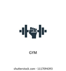 gym creative icon. Simple element illustration. gym concept symbol design from Hotel collection. Can be used for web and mobile.