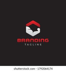 Gym crossfit branding logo design