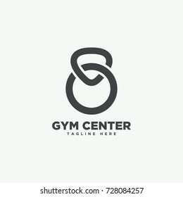 gym fitness icon design logo template