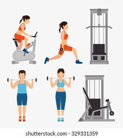 Gym and fitness lifestyle design, vector graphic.