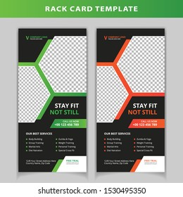 Gym and fitness rack card template