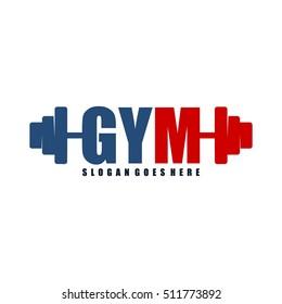 Gym logo, fitness logo