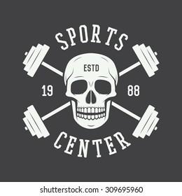 Gym logo, label and or badge vintage style. Vector illustration