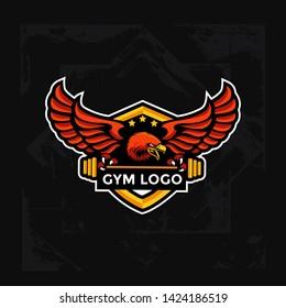 gym logo,eagle gym logo,fitness logo,egale fitness logo