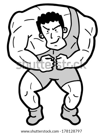 Gym Man Draw Stock Vector Royalty Free 178128797