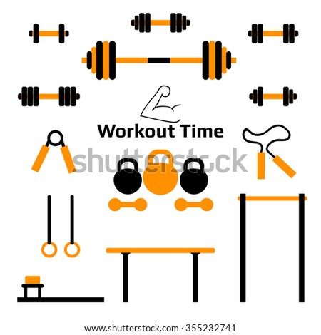 gym stuff workout tools flat design stock vector royalty free