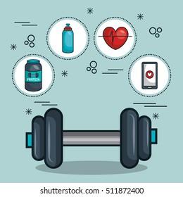 gym traininig hard isolated icons
