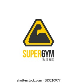 Gym vector logo template, icon, symbol, emblem, sign
