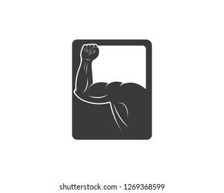 gym,fitness illustration vector template icon