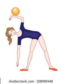 gymnast isolated on white background (vector illustration)