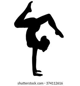 gymnast. yoga