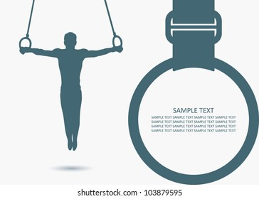 Gymnastic rings background - vector illustration
