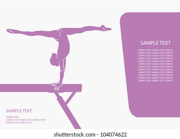 Gymnastics beam background - vector illustration