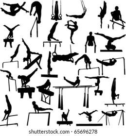 gymnastics collection - vector 1