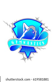 Gymnastics Logo design vector template. Sport Gymnastics Logotype icon