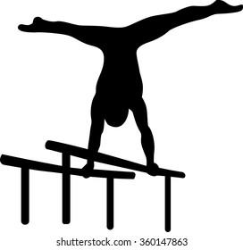 Gymnastics at parallel bars