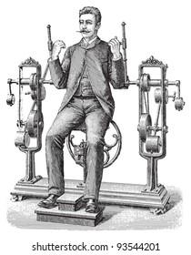 Gymnastics / vintage illustration from Meyers Konversations-Lexikon 1897