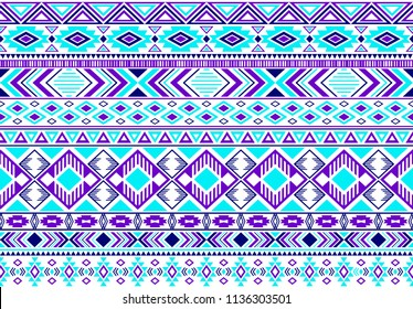 Gypsy pattern tribal ethnic motifs geometric vector background. Vintage gypsy geometric shapes sprites tribal motifs clothing fabric textile print traditional design with triangles