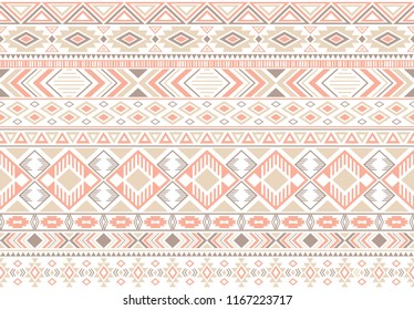 Gypsy pattern tribal ethnic motifs geometric vector background. Cool gypsy tribal motifs clothing fabric textile print traditional design with triangles
