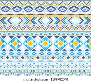 Gypsy pattern tribal ethnic motifs geometric vector background. Vintage geometric shapes sprites tribal motifs clothing fabric textile print traditional design with triangles