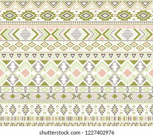Gypsy pattern tribal ethnic motifs geometric vector background. Cool geometric shapes sprites tribal motifs clothing fabric textile print traditional design with triangles