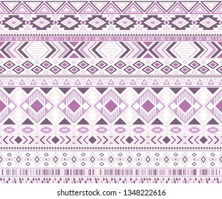 Gypsy pattern tribal ethnic motifs geometric seamless background. Bohemian gypsy geometric shapes sprites tribal motifs clothing fabric textile print traditional design with triangles