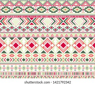 Gypsy pattern tribal ethnic motifs geometric seamless background. Cool gypsy geometric shapes sprites tribal motifs clothing fabric textile print traditional design with triangles