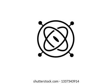 gyroscope  icon vector illustration on white background