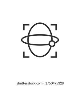 Gyroscope line outline modern icon on white. Stock vector