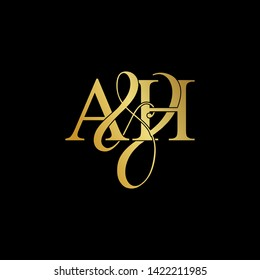 A and H / AH logo initial vector mark