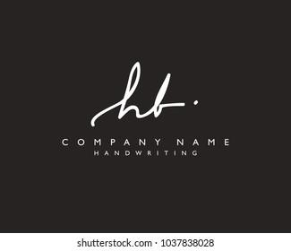 H B Initial handwriting logo