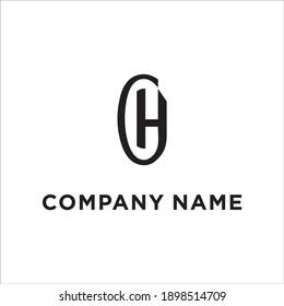H C Letter Logo Design Vector Stock Vector