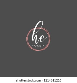 H E HE Initial logo template vector