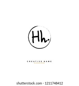 H H HH Initial abstract logo concept vector
