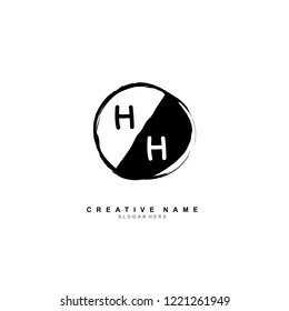 H H HH Initial logo template vector