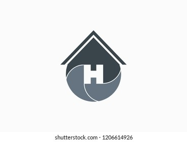 H Home vector icons are suitable for real estate companies