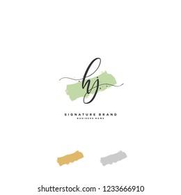 H J HJ Initial logo template vector