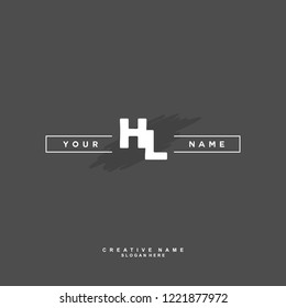 H L HL Initial logo template vector