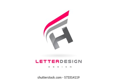 H Letter Logo Design. Futuristic Modern Lettering Concept Vector.