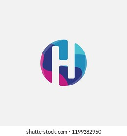 H letter logo . H icon flat design with colorful concept