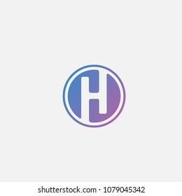 H letter logo . H icon logo template