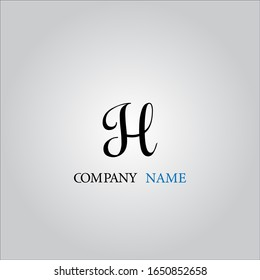 H letter logo with nice white background.H letter icon.
