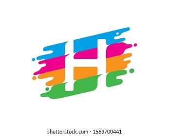 H Letter logo or symbol template design