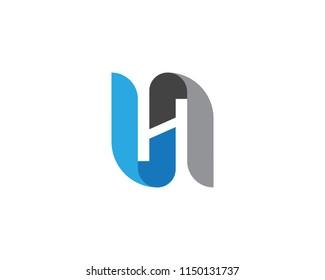 H Letter Logo Template Design Vector illustration