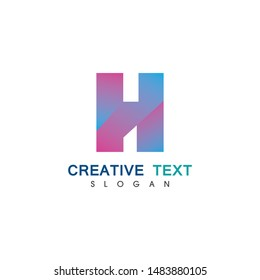 H Letter Logo Template Design Vector illustration icon