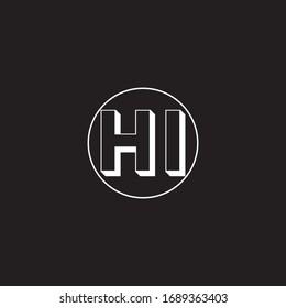 H I letter logo vector design