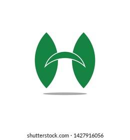 H letter nature logo design